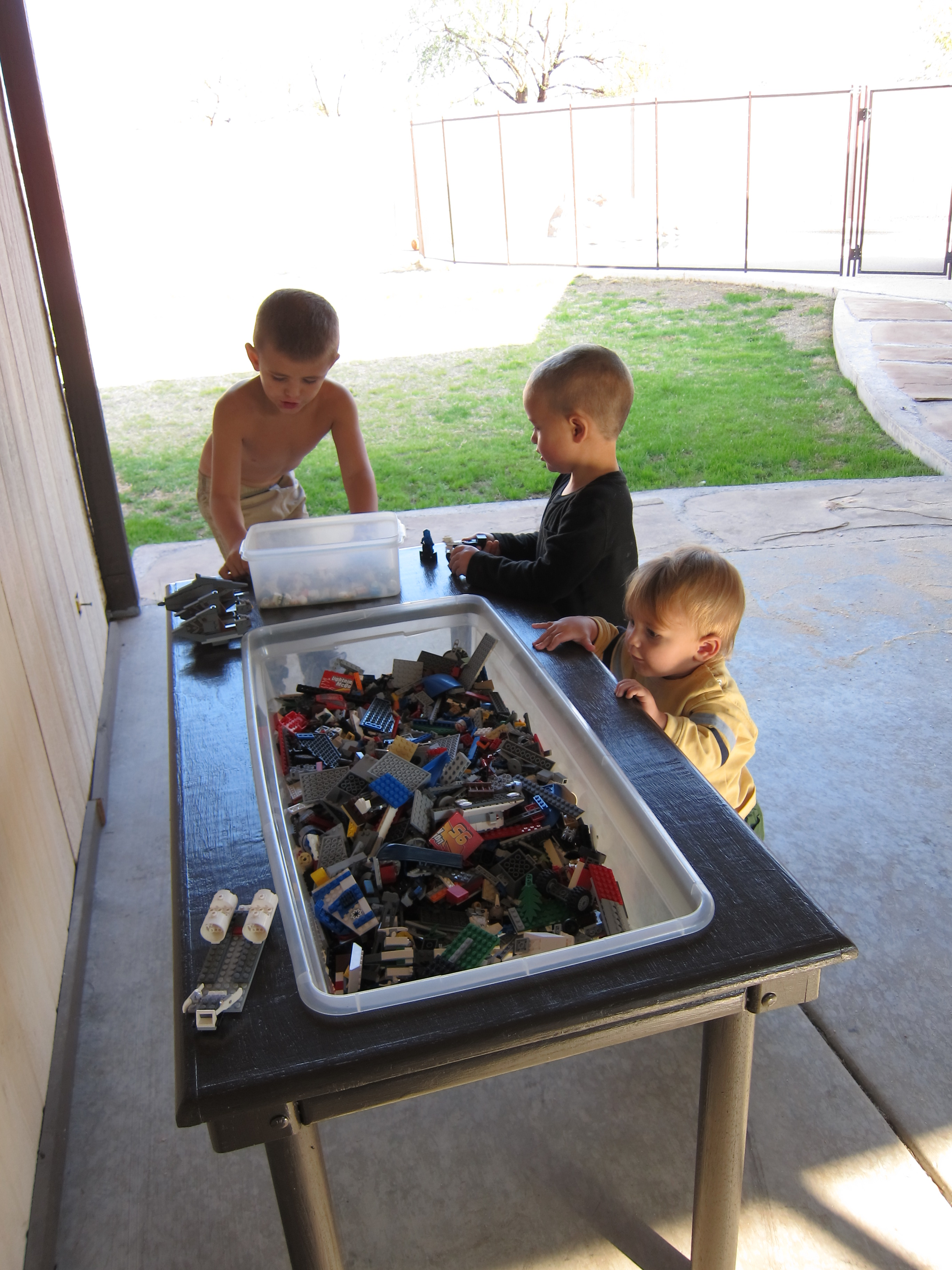 I Purchased A Bin To Store The Legos In That Is The Same Size As The Bin In  The Sensory Table. It Is Actually A Really Good Size And Depth For Storing  ...