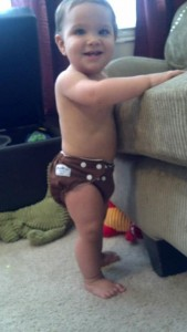 CLoth diapering a solid food eater