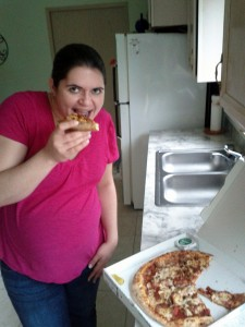 pizza before labor
