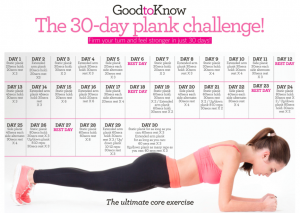 3-=day plank challenge